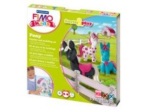 Sada modelovací hmoty FIMO KIDS Ponny 4x 42g - 803408