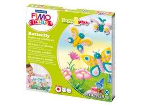 Sada modelovací hmoty FIMO KIDS Butterfly 4x 42g - 803410