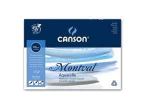 Blok akvarelový 300g, 12 listů Canson Montval - 29,7x42 cm