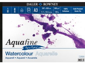 Blok akvarelový 300g Aquafine texture Daler-Rowney - 12 listů A3