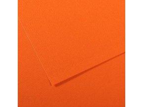 Pastelový papír 160g - č.453  Oranžová