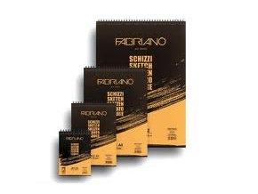 Blok skicovací 90g Fabriano schizzi - A4 spirála na horní straně