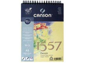 Blok kreslící 180g Canson  1557 - A3 spirála