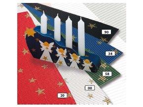 Vlnitý karton 250g - zelená s hvězdičkami