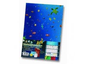 Sada transparent rybičky - papír 23x33cm