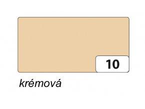 Barevný papír 300g - 10  krémová