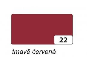 Barevný papír 300g - 22 Červená tmavá