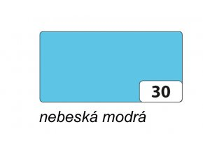 Barevný papír 130g - 30  Nebeská modrá
