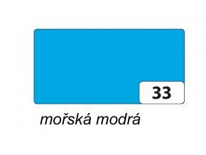 Barevný papír 130g - 33  Mořská modrá