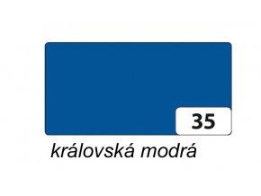 Barevný papír 130g - 35  Královská modrá