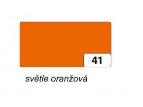 Barevný papír 130g - 41 Oranžová světlá