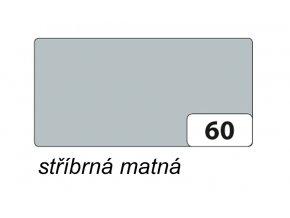 Barevný papír 130g - 60  Stříbrná matná