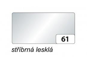 Barevný papír 300g - 61  Stříbrná lesklá