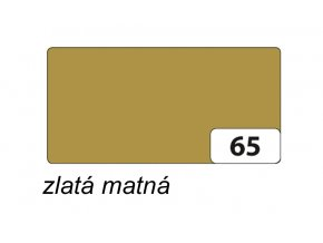 Barevný papír 300g - 65  Zlatá matná