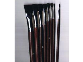 Štětec pro olej plochý 42238 - vlas černý vůl