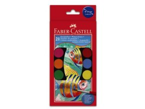 Školní vodové barvy 21x30mm Faber-Castell