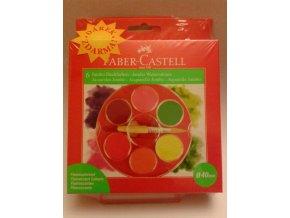 Školní vodové barvy JUMBO florescent 6x40mm Faber-Castell