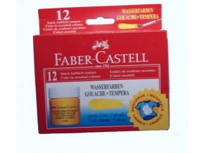 Školní temperové barvy Faber Castell v kalíškách