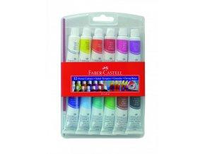 Školní temperové barvy Faber Castell v plastovém obalu
