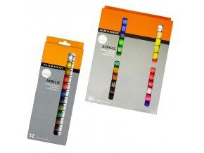 Sada akrylové barvy Daler-Rowney Simply 12x12ml tuby
