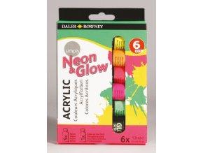 Neon 6x12ml Daler Rowney