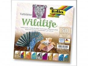 5662 origami papir wildlife 50ks 80g 15x15cm