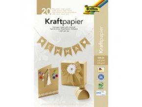 folia Kraftpapier Block DIN A4 20 Blatt sortiert 698