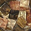 Mozaikové plastové kamínky mramorové 10 x 10 mm  -  hnědá
