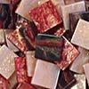 Mozaikové plastové kamínky mramorové 5 x 5 mm  -  červená