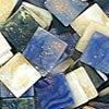 Mozaikové plastové kamínky mramorové 5 x 5 mm  -  modrá