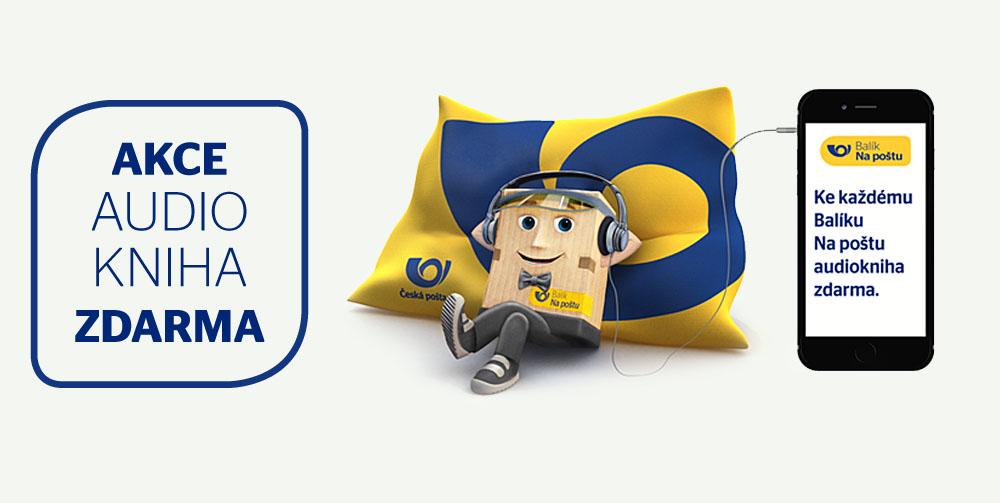Česká pošta - akce Balík na poštu + audiokniha zdarma