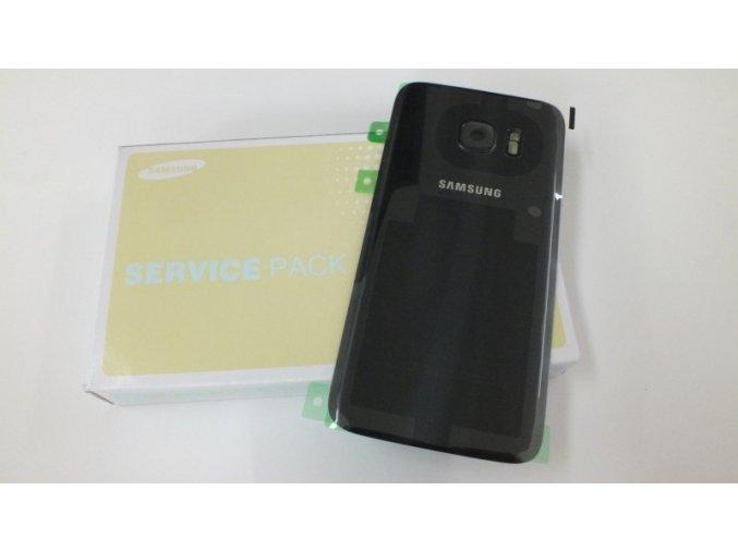 Samsung Galaxy S7 G930F zadní skleněný kryt baterie černý