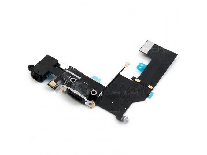 iPhone SE nabíjecí konektor Lightning port se sluchátkovým jackem a mikrofonem, černý