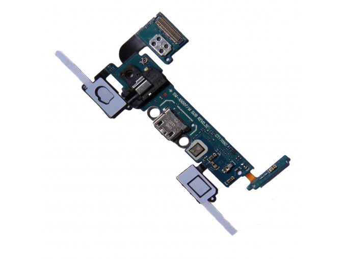 Samsung Galaxy A5 2015 A500F micro USB nabíjecí port s tlačítky a audio konektorem