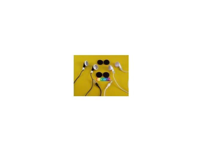 Sluchátka pecky - černá