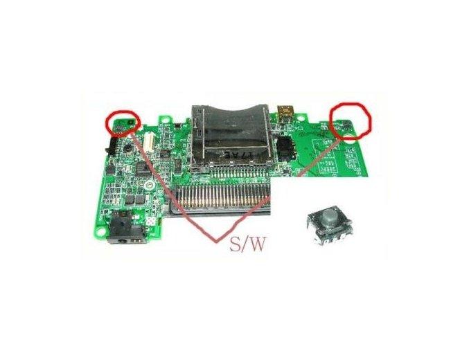 NDS Lite / NDSi mikrospínač (levý/pravý)