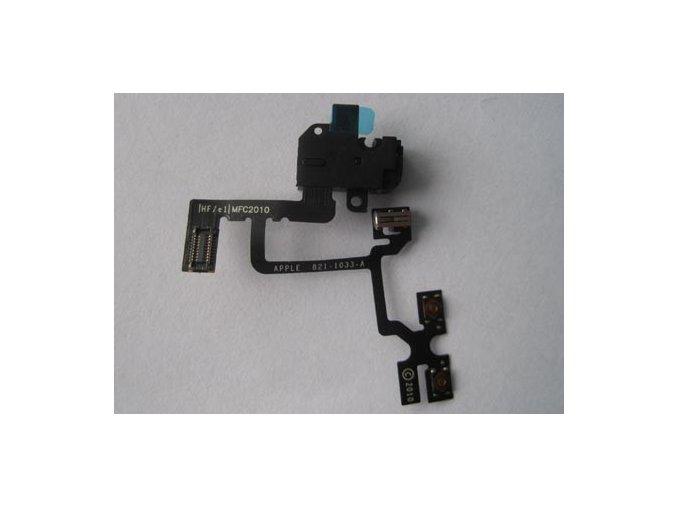 iPhone4 konektor sluchátek s flex kabelem černý