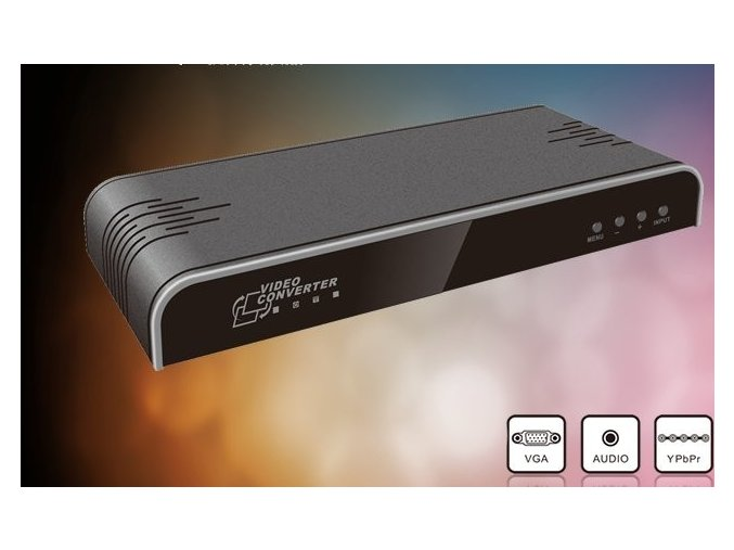 VGA + Component Video na HDMI konverter