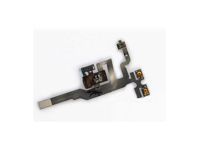 iPhone 4S konektor sluchátek s flex kabelem - černý