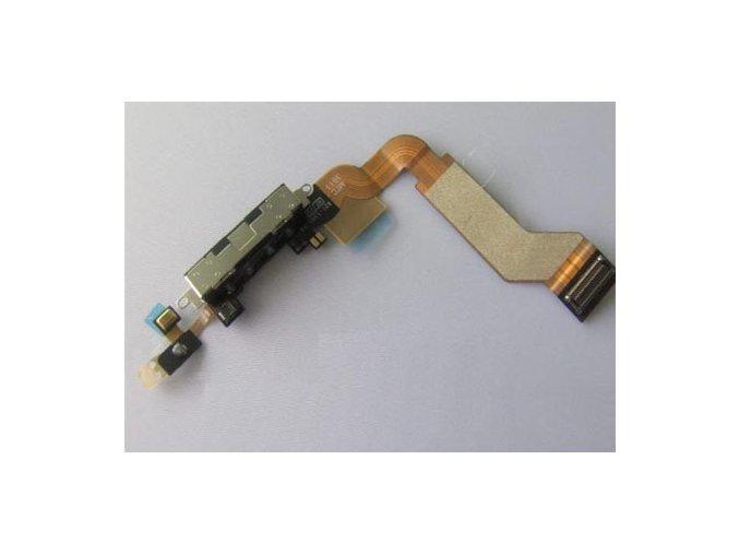 iPhone 4S systémový konektor s flex kabelem - černý