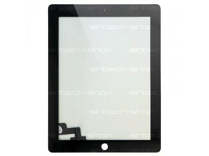 iPad 2 čelní sklo + digitizer (Touchscreen) - černý