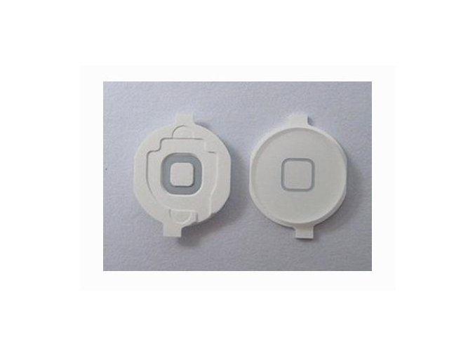 iPad 2/3/4 Home Button - bílý s gumovou podložkou