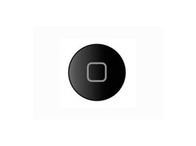 iPad 2/3/4 Home Button - černý s gumovou podložkou