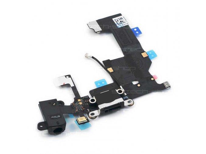 iPhone 5 docking port s flex kabelem - černý