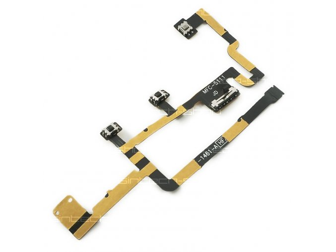 iPad 2 Power On/Off Switch Mute Volume Button flex kabel (nová verze 2012, APN 821-1461-A)