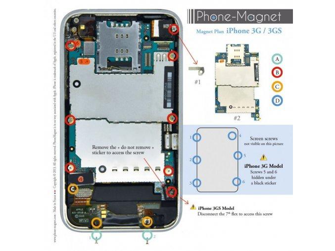 Phone-Magnet: profesionální magnetická podložka pro šrouby iPhone 3G/3GS