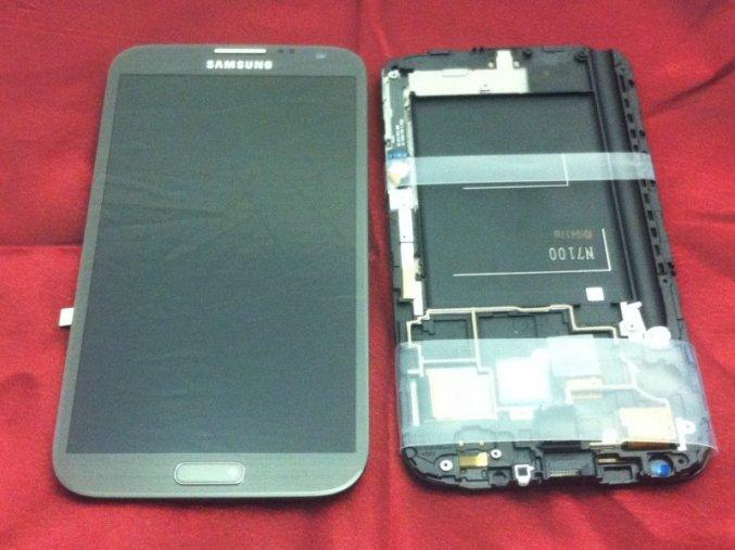 Samsung N7100 Note 2 displej s rámem, šedý