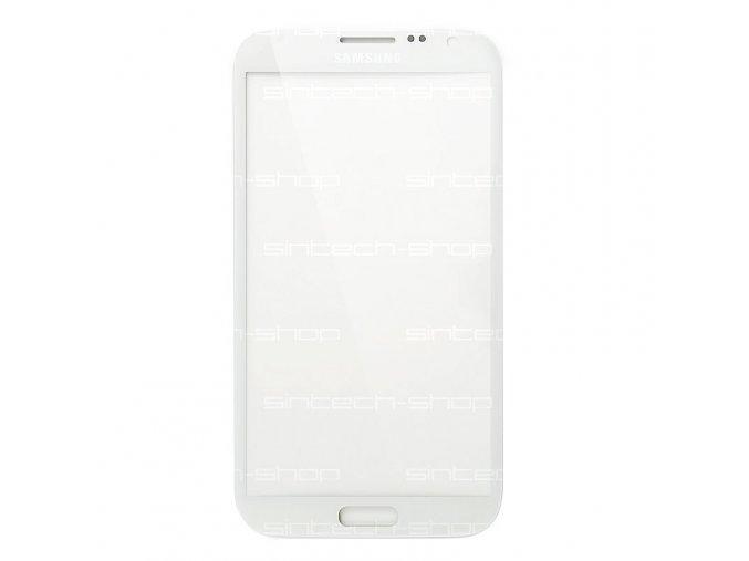 Samsung Galaxy Note 2 N7100 čelní sklo ceramic white