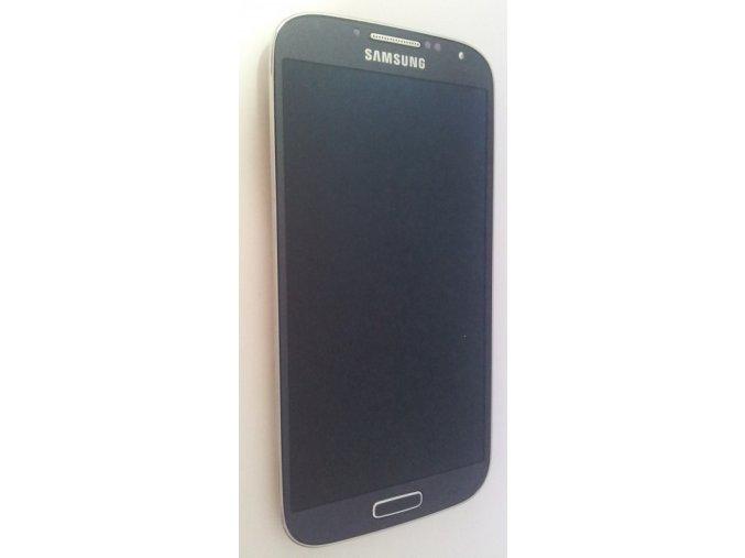 Samsung Galaxy S4 i9505 LTE, černý/pebble blue - displej s rámem