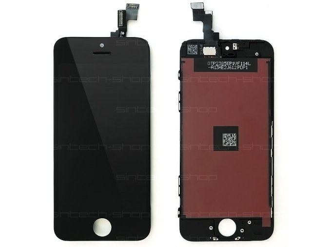 iPhone 5S/SE LCD displej + dotyk - černý, SINTECH© Premium